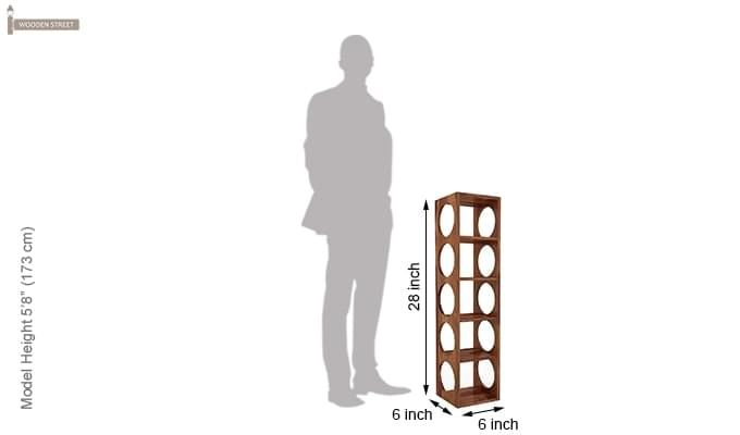 Osborn Wine Rack (Teak Finish)-6