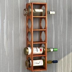 Osborn Wine Rack (Teak Finish)