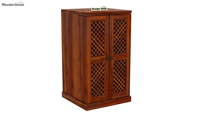 Pavel Bar Cabinet (Honey Finish)-3