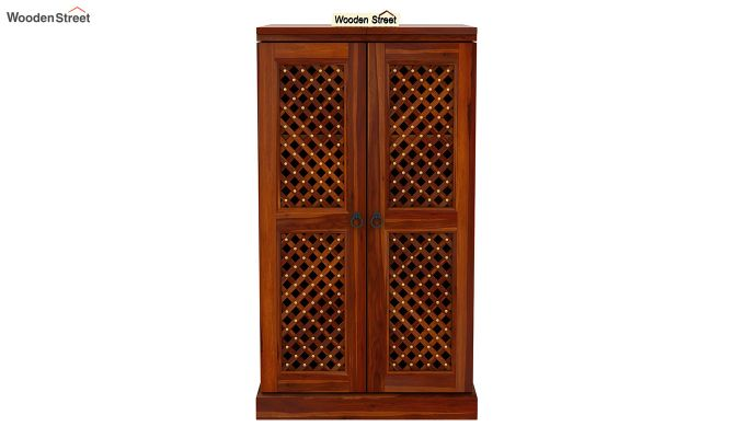 Pavel Bar Cabinet (Honey Finish)-4