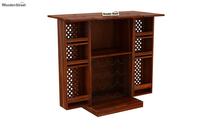 Pavel Bar Cabinet (Honey Finish)-5
