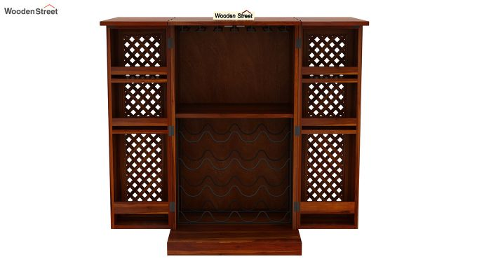 Pavel Bar Cabinet (Honey Finish)-6
