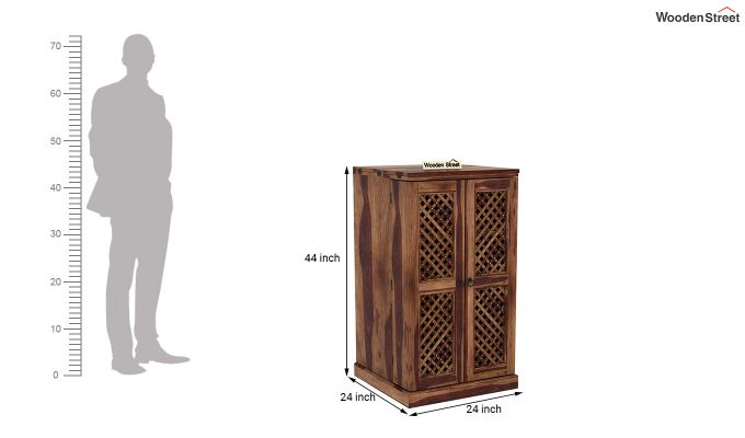 Pavel Bar Cabinet (Teak Finish)-7