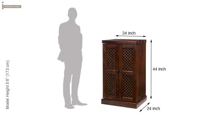 Pavel Bar Cabinet (Teak Finish)-5