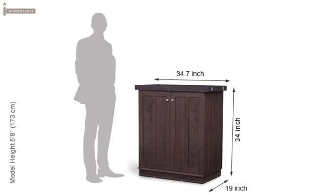 Ramon Bar Cabinet (Mahogany Finish)-7