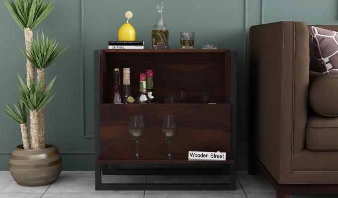 Ray Bar Cabinet (Walnut Finish)-2