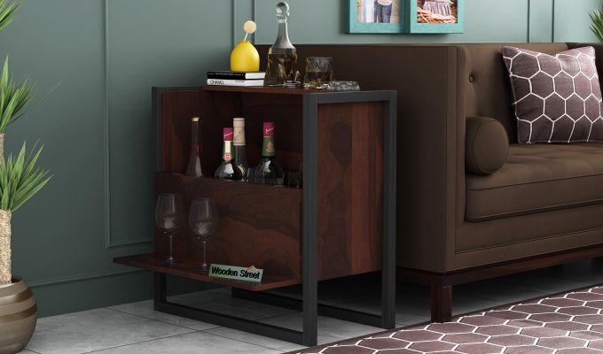 Ray Bar Cabinet (Walnut Finish)-1