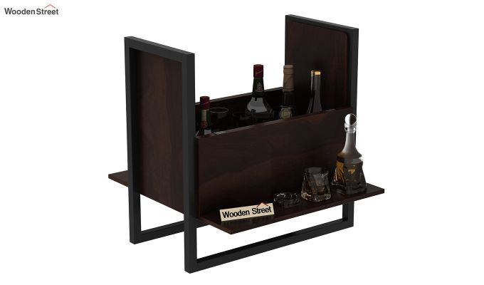 Ray Bar Cabinet (Walnut Finish)-5