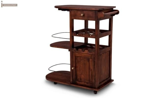 Slany Bar Trolley (Teak Finish)-1