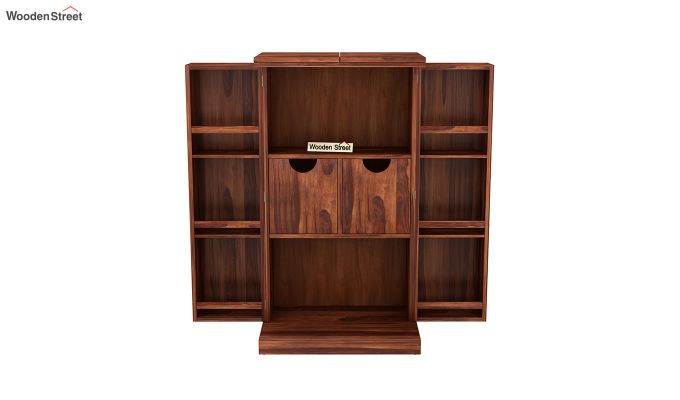 Spence Bar Cabinet (Honey Finish)-5