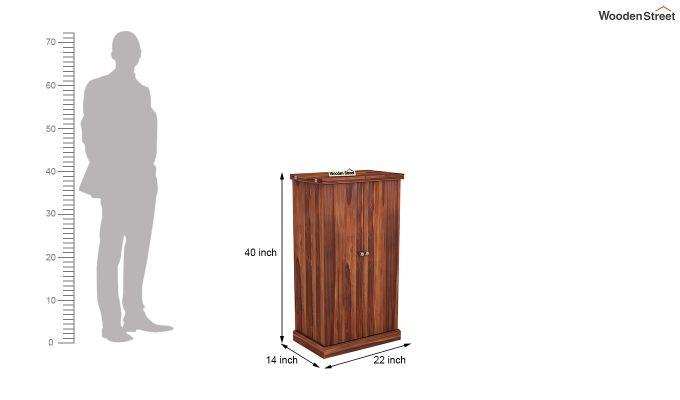 Spence Bar Cabinet (Honey Finish)-8