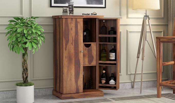 Spence Bar Cabinet (Teak Finish)-1