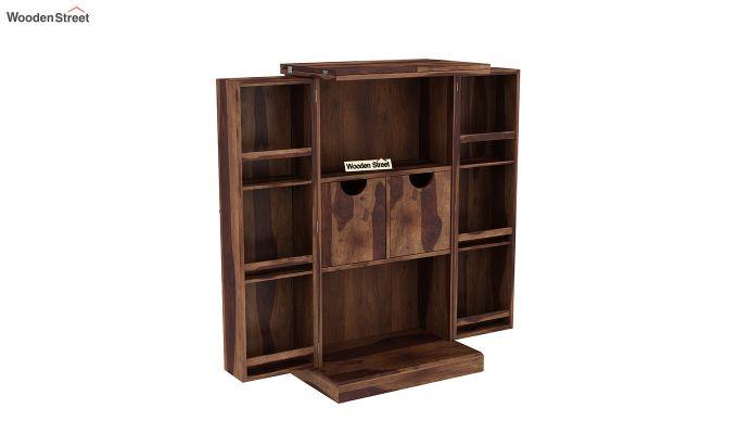 Spence Bar Cabinet (Teak Finish)-4