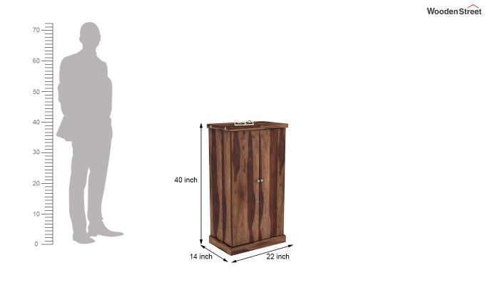 Spence Bar Cabinet (Teak Finish)-8