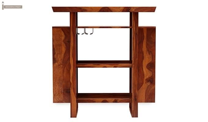 Taran Bar Cabinet (Teak Finish)-3