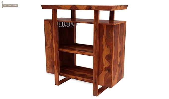 Taran Bar Cabinet (Teak Finish)-4