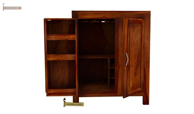 Toby Bar Cabinet (Honey Finish)-1