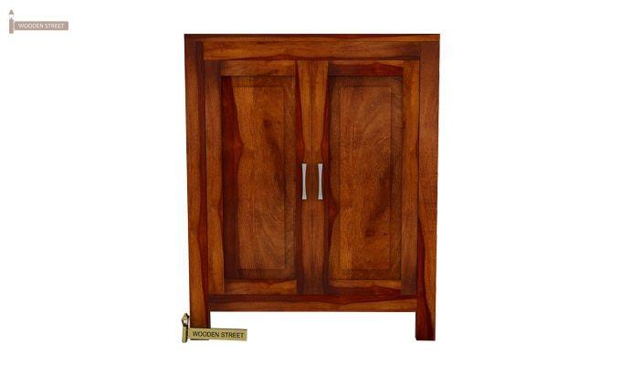 Toby Bar Cabinet (Honey Finish)-2