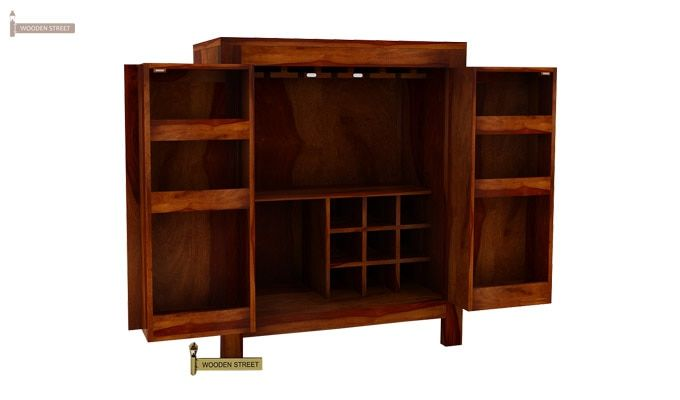 Toby Bar Cabinet (Honey Finish)-4