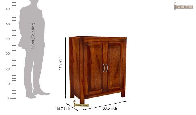 Toby Bar Cabinet (Honey Finish)-5