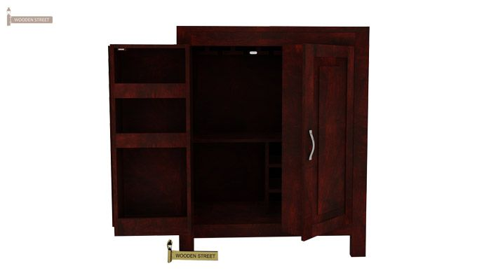 Toby Bar Cabinet (Mahogany Finish)-1