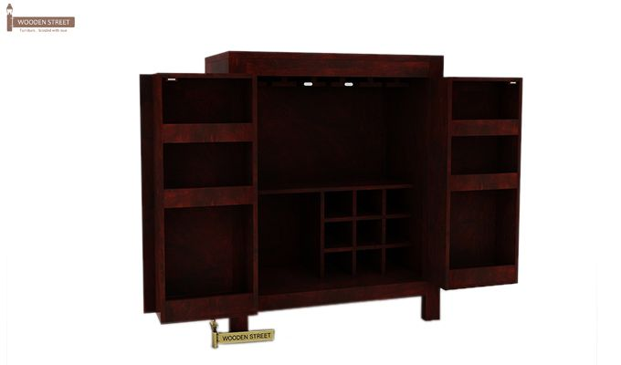 Toby Bar Cabinet (Mahogany Finish)-4