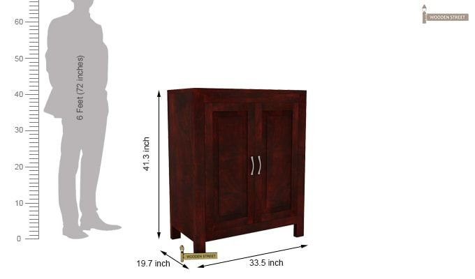 Toby Bar Cabinet (Mahogany Finish)-5