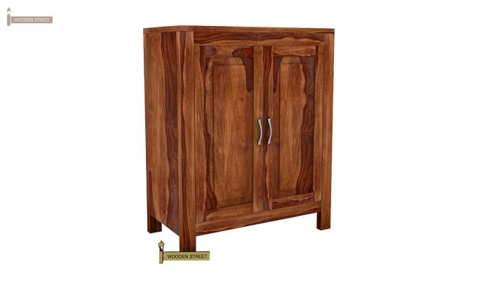 Toby Bar Cabinet (Teak Finish)-2