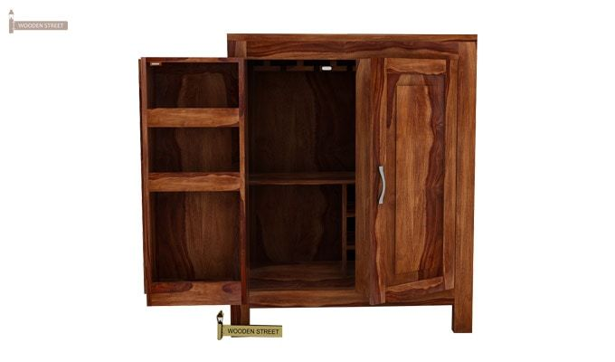 Toby Bar Cabinet (Teak Finish)-4