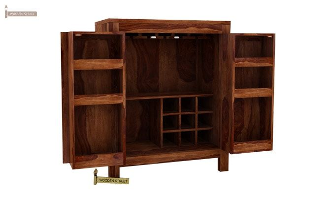 Toby Bar Cabinet (Teak Finish)-5