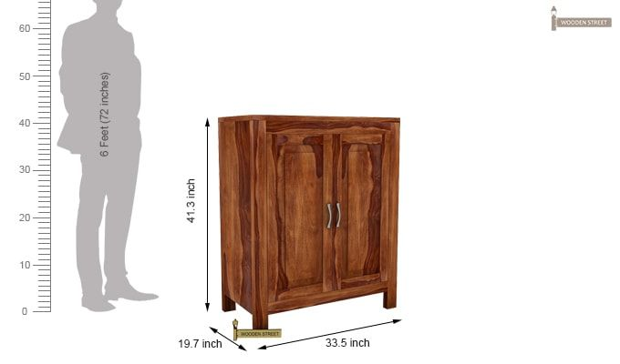 Toby Bar Cabinet (Teak Finish)-6