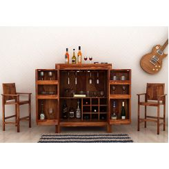 Toby Bar Cabinet (Teak Finish)
