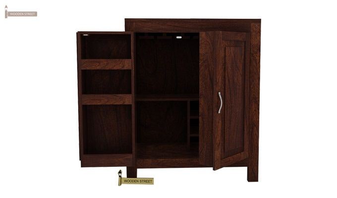 Toby Bar Cabinet (Walnut Finish)-1