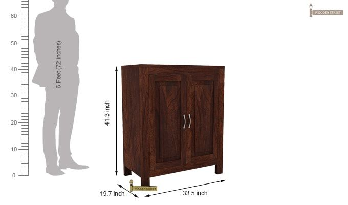 Toby Bar Cabinet (Walnut Finish)-5