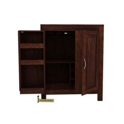 Toby Bar Cabinet (Walnut Finish)