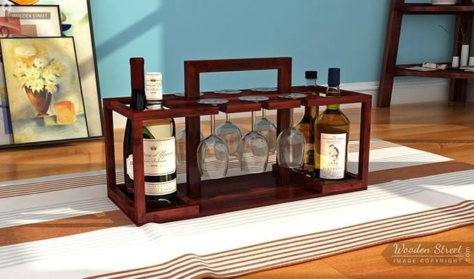 Villegas Bar Cabinet (Mahogany Finish)-1