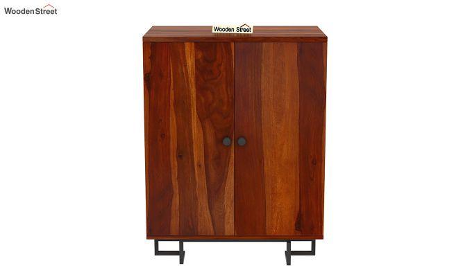 Zimer Bar Cabinet (Honey Finish)-4