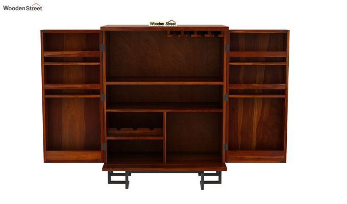 Zimer Bar Cabinet (Honey Finish)-6