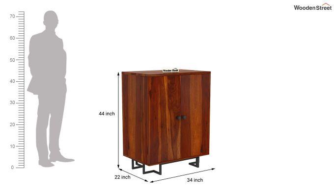 Zimer Bar Cabinet (Honey Finish)-7
