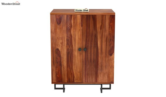 Zimer Bar Cabinet (Teak Finish)-4