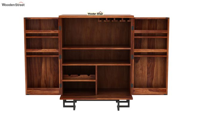 Zimer Bar Cabinet (Teak Finish)-6
