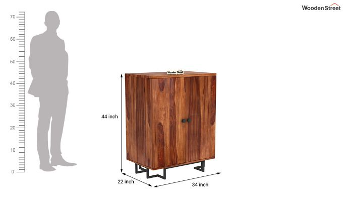Zimer Bar Cabinet (Teak Finish)-7