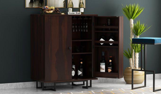 Zimer Bar Cabinet (Walnut Finish)-1