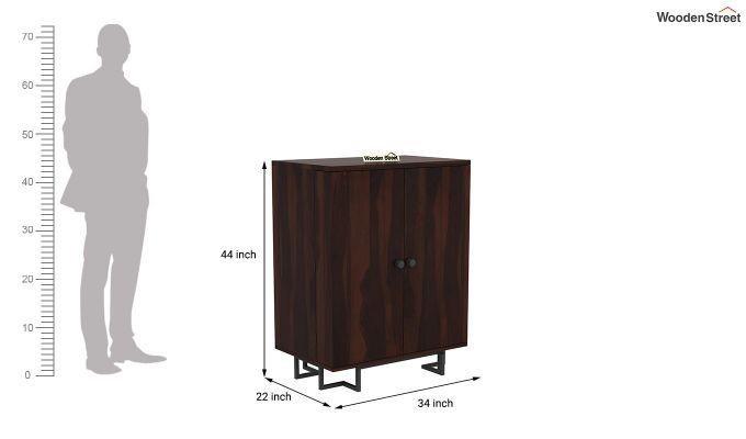 Zimer Bar Cabinet (Walnut Finish)-7