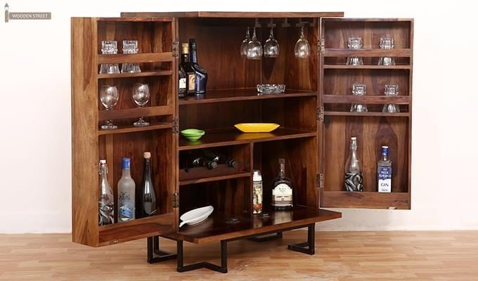 Zimer Cabinet (Teak Finish) -2