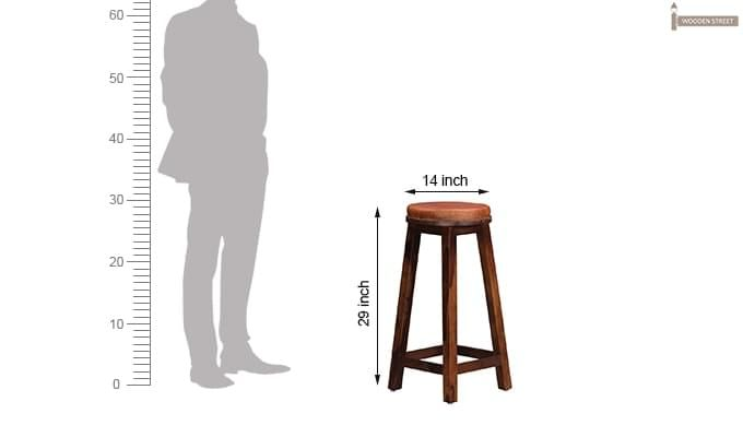 Adcock Bar Stool (Teak Finish)-7