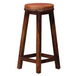 Adcock Bar Stool (Teak Finish)