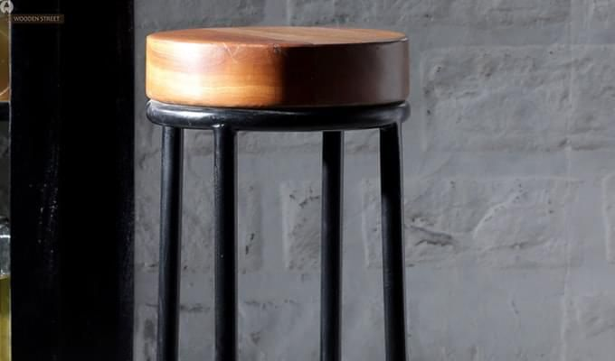 Burgoyne Bar Stool (Black Finish)-4