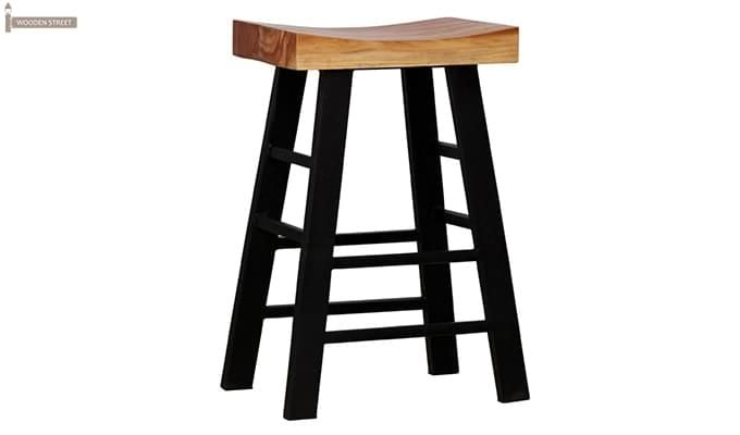 Mckeigh Bar Stool (Black Finish)-1