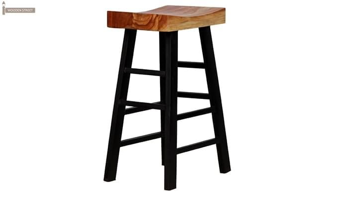 Mckeigh Bar Stool (Black Finish)-3
